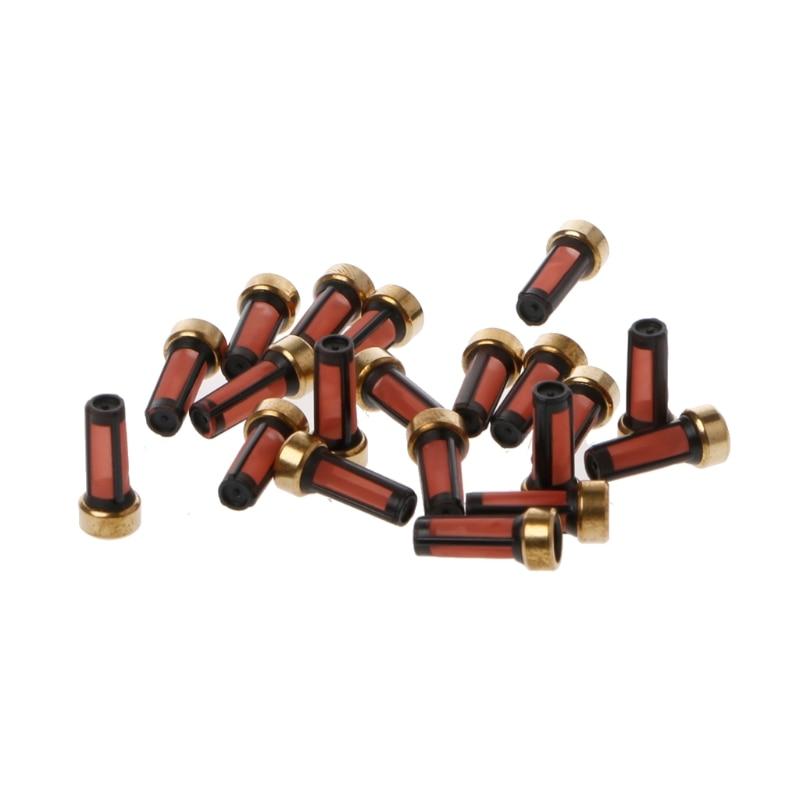20 Stuks Brandstofinjector Micro Basket Filter Voor Audi Bmw Gmc Injector Reparatie Kits