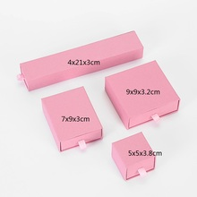 150pcs of pink 4x21x3cm and 150pcs of 9x9x3cm box printed with logo to UK