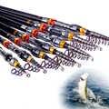 1,8-3,6 m telescópico duro FRP de fibra de carbono caña de pescar telescópica 13BB carrete de pesca rueda de viaje portátil varilla giratoria pesca