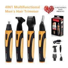 Cortador de pelo de los oídos 4 en 1 recargable portátil, cortador inalámbrico para hombres, CareTool Facial, afeitadora de barba, eliminación de vello de cejas