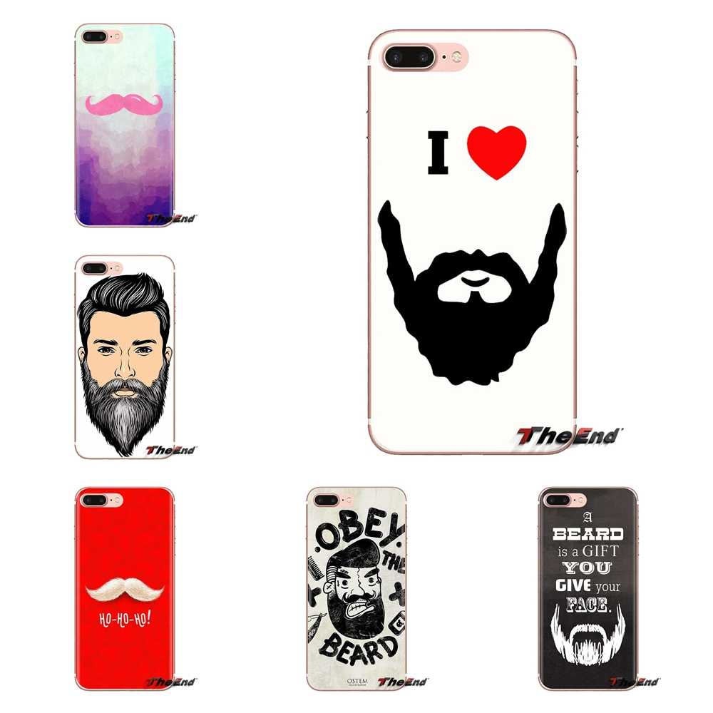 Liefde Baard Snor Voor iPhone XS Max XR X 4 4S 5 5 S 5C SE 6 6S 7 8 Plus Samsung Galaxy J1 J3 J5 J7 A3 A5 Soft Transparant Cover