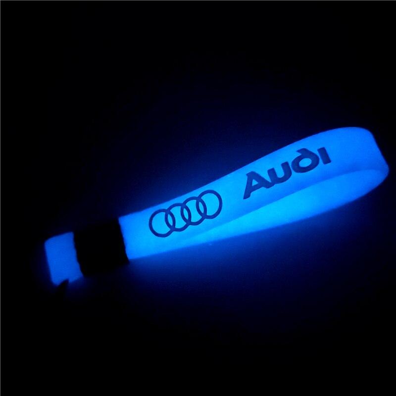 1Pcs Luminous Car Keyring Keychain Sticker Case For Audi S3 S4 S5 A3 A4 A5 A6 A7 A8 Q3 Q4 Q5 Q6 Q7 B8 B6 C6 Accessories