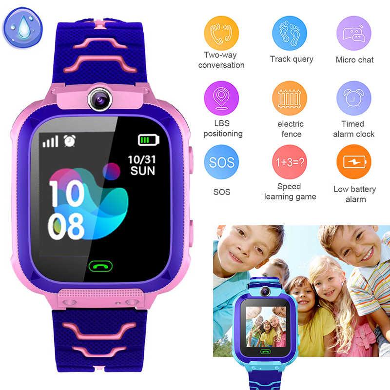 Q12 الأطفال أطفال ساعة ذكية IP67 عميق مقاوم للماء 2G بطاقة SIM لتحديد المواقع المقتفي كاميرا SOS مكالمة الموقع تذكير مكافحة خسر PK Q50