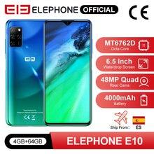 ELEPHONE E10 Octa Core Smartphone 4GB 64GB 6.5″ Screen Quad Camera 48MP Main Cam Android 10 NFC Side Fingerprint Mobile Phone