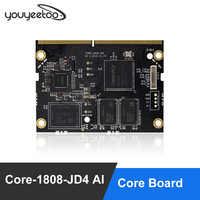 Tablero de núcleo AI Core-1808-JD4 Firefly RK1808 AI Chip de doble núcleo Cortex-A35 soporta TensorFlow/Caffe/ONNX/Darknet acoplado