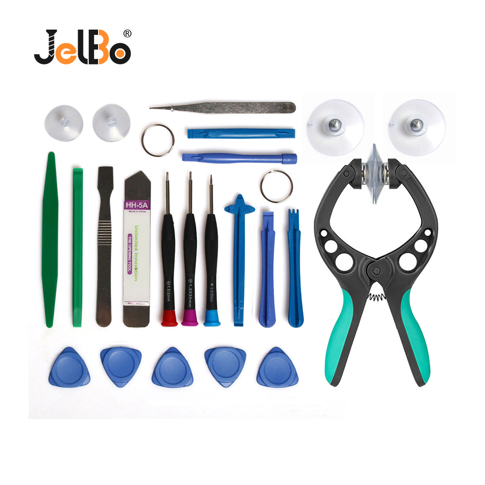 JelBo Mobile Phone Repair Tools Screwdriver Repair Tool Set LCD Screen Opening Pliers Suction Cup for iPhone iPad Phone
