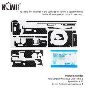 Image 5 - KIWIFOTOS anti rayures caméra corps couverture en Fiber de carbone Film Kit peau pour Sony A6600 3M autocollant avec Film de rechange caméras Protection