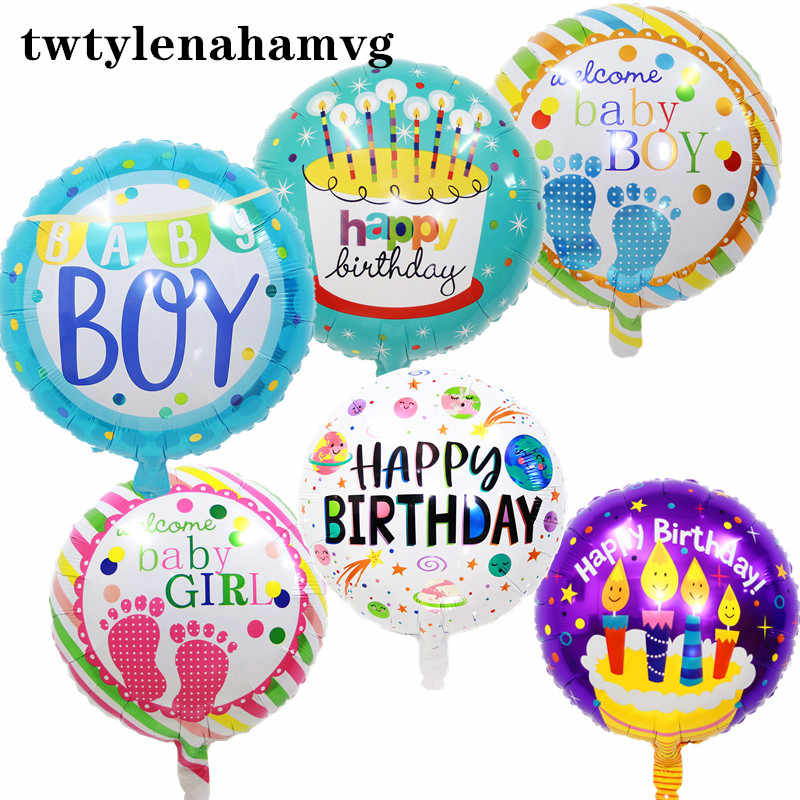New 18inch Self-inflating Foil Balloons Boy Or Girl Gender Reveal Party Decorate