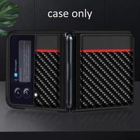 Per Samsung Galaxy Z Flip 3 custodia Cover in pelle in fibra di carbonio per Sasmung Galaxy Z Fold3 Cover Full Protector Capa