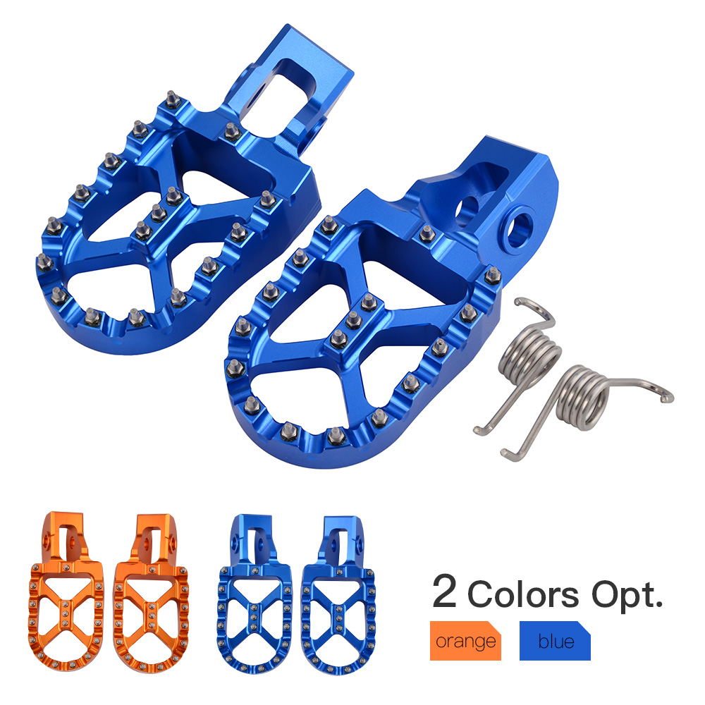 CNC 57mm Foot Pegs Pedals Footrests FootPegs For KTM 85 125 SX 150 180 200 250 300 XC-W EXC-F 350 450 XC-F SX-F 2018 2019