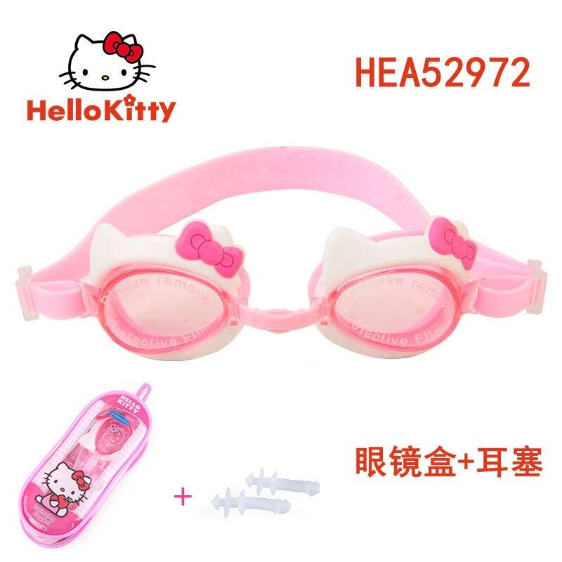 Hellokitty CHILDREN'S Swimming Goggles Earplug Set Hello Kitty Swimming Equipment
