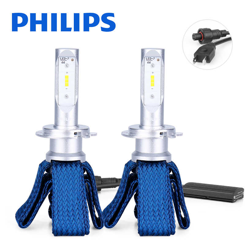 Philips Ultinon Essential H7 LED 12V 6000K Car LED Headlight Bulbs Auto HL Beam Thermal Cool 11972UEX2 luces led para auto 2PCS