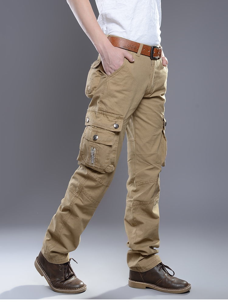 KSTUN New Cargo Pants for Men Baggy Casual Pants Male Overalls Full Length Trousers Loose Straight Cut Pants Zippers Pockets Desinger 13