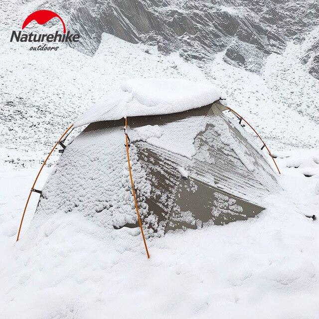 Naturehike 2019 sürümü bulutsusu 2 çadır Ultra hafif çift yerleşik çadır kamp rüzgar yağmur soğuk ve Blizzard vahşi kamp çadırı
