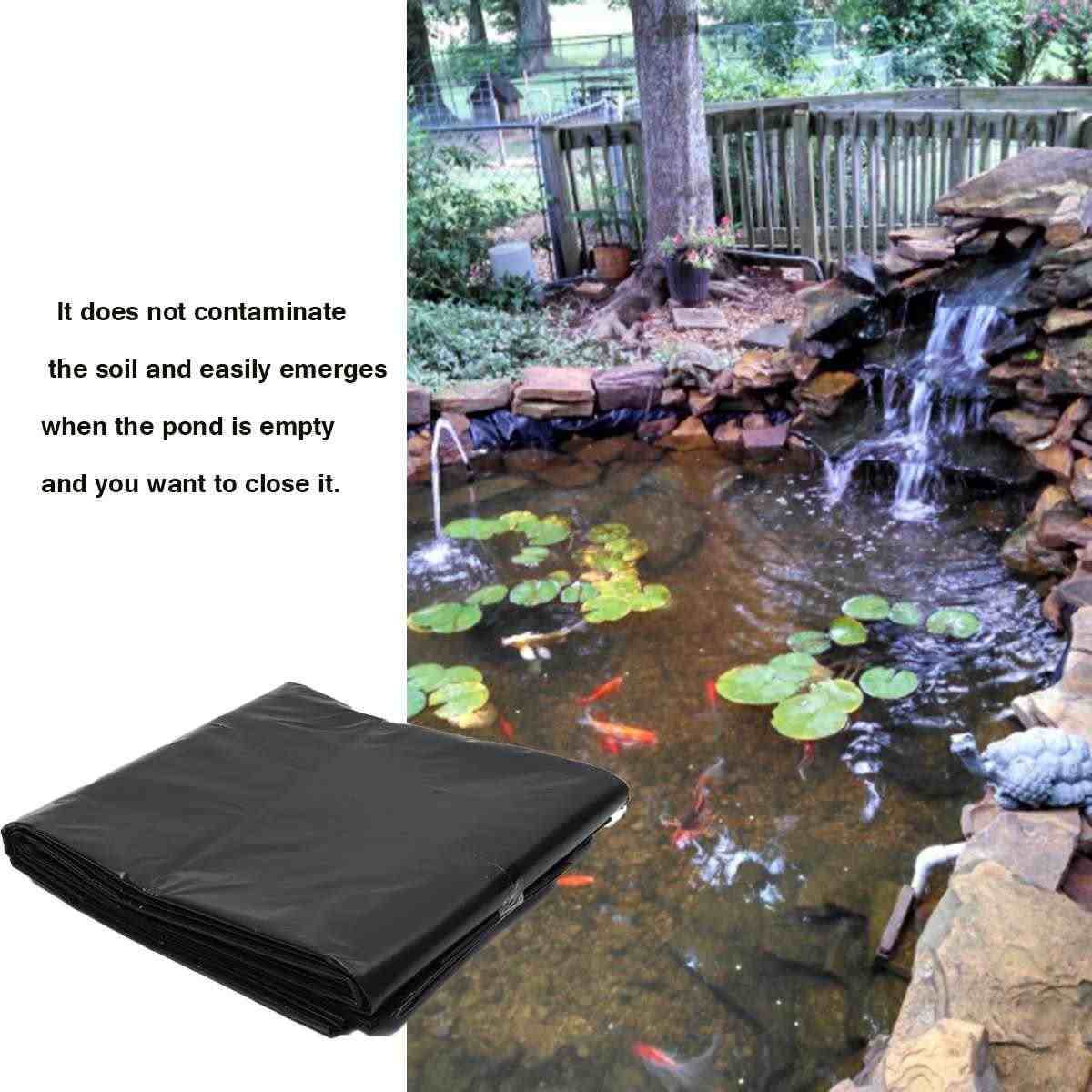 New 3 Size Fish Pond Liner Garden Pools Reinforced Hdpe Heavy Duty Professional Landscaping Pool Waterproof Liner Cloth Black 0 Pond Liners Aliexpress