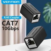 Vention RJ45 커넥터 Cat7/6/5e 이더넷 어댑터 여성-여성 8P8C 패치 이더넷 케이블 용 네트워크 익스텐더 연장 와이어
