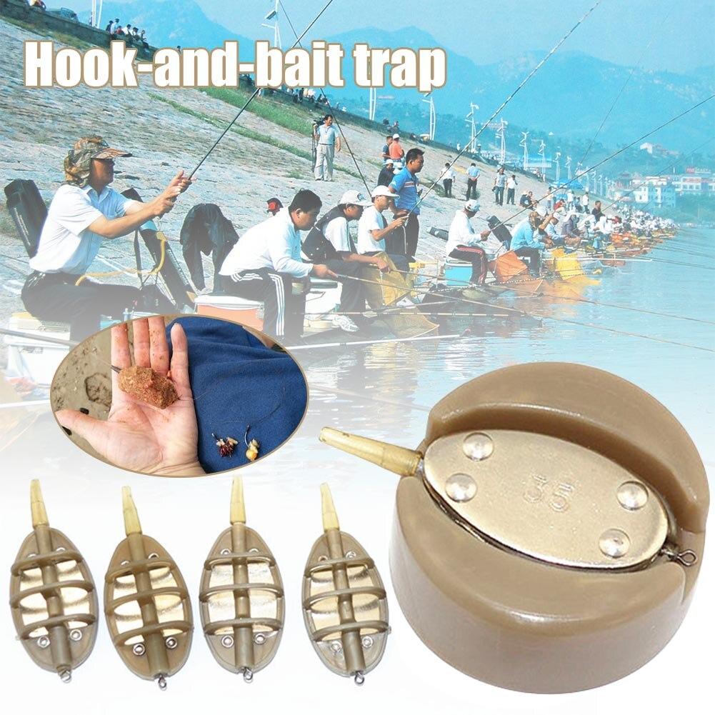 New 4Pcs Inline Method Carp Fishing Feeders Mould Set Fishing Bait XD88