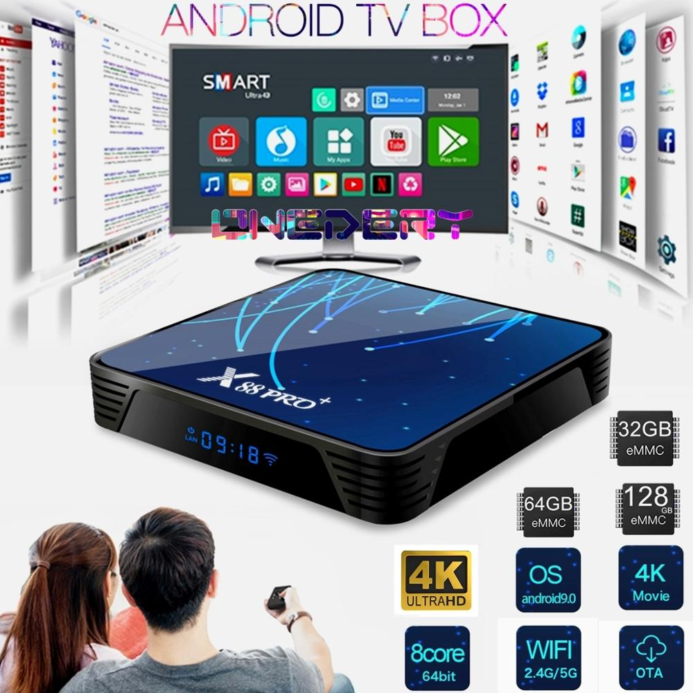 4K Android 9.0 TV Box, Octa-Core RK3368 CPU 5G WiFi 4K 3D Smart TV Box Streaming Network Media Player Set-top Box Android TV BOX