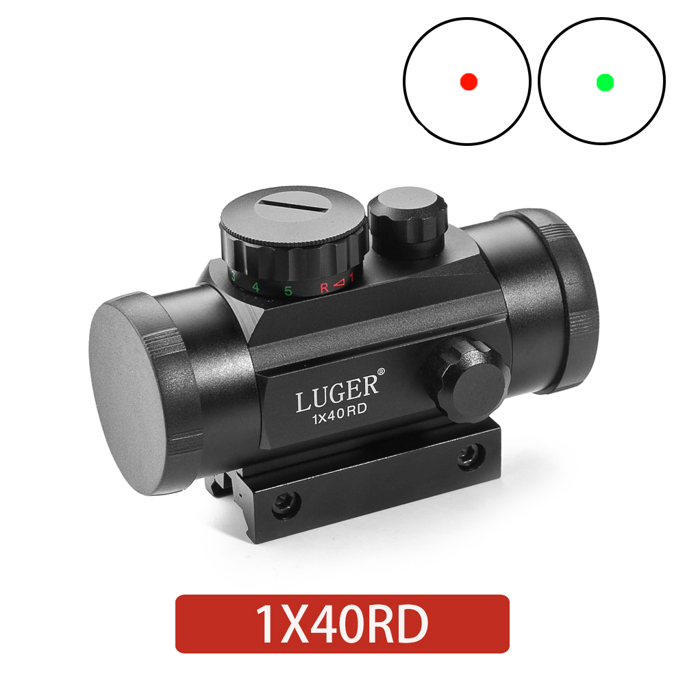 Red Dot Sight Holographic 1x40 Airsoft Red Green Cross Sight Scope Hunting Scope 11mm 20mm Rail Mount Collimator Sight