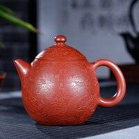 Yixing zisha pot  minério cru  dahongpao  longan pot  380ml de capacidade  todos pintados à mão|Bules| |  -
