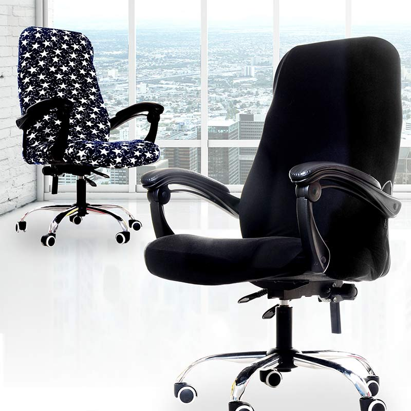 Computer Seat Popular Chair Covers Office Stretch 1 Pc 3 Sizes For Office Seat Removable Anti-dirty Chairs Slipcovers Spandex