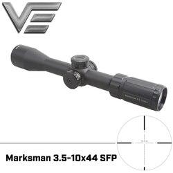 벡터 광학 marksman 3.5-10x44 전술 총 소총 범위 mp 레티클 낮은 터렛 최고의 사냥을위한 마운트와 1/10 밀 조정