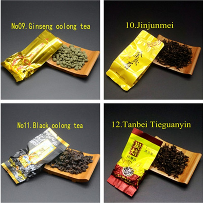 16 Different Flavors Chinese Tea Includes Milk Oolong Pu-erh Herbal Flower Black Green Tea Each tea Two Bags 4