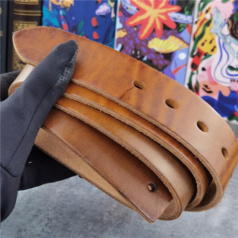 110 -135CM Yellow Long Belt Leather Belts Without Buckles Men's Belt Ceinture Mens Leather Belts Without Buckles Belt Male SP05N