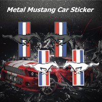 decals rear trunk emblem 1 Pair 3D Metal Mustang Car Side Fender Rear Trunk Emblem Badge Sticker Decals Accessories For Ford Mustang GT Car-styling (1)