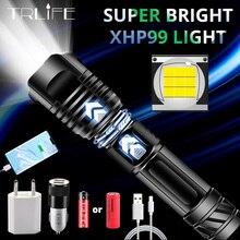 새로운 XHP99 밝은 LED 손전등 P70 가장 강력한 야영 빛 Zoomable 토치 USB 충전식 보조베터리 사용 18650 26650