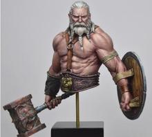 1/10 ancient man warrior with beard bust   Resin figure Model kits Miniature gk Unassembly Unpainted