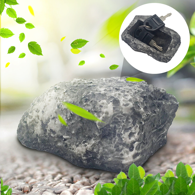 Free Shipping Garden Key Box Rock Hidden Hide In Stone Security Safe Storage Hiding Drop shipping Mini Safe Box Mni locker 1