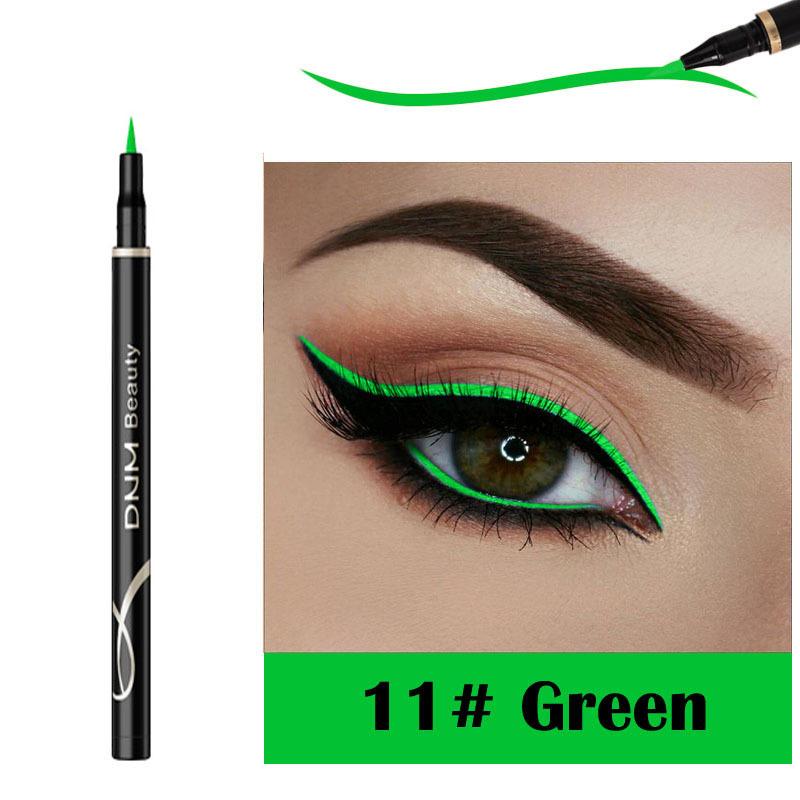 DNM Matte Eyeliner Cat Eye Makeup Long lasting Waterproof Sweat proof Quick Dry Not Blooming Liquid Eyeliner 12 Colors TSLM2