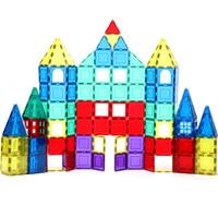 15-60 個透明色磁気デザイナーモデリング & 建築セット磁気ブロックレンガのおもちゃギフト