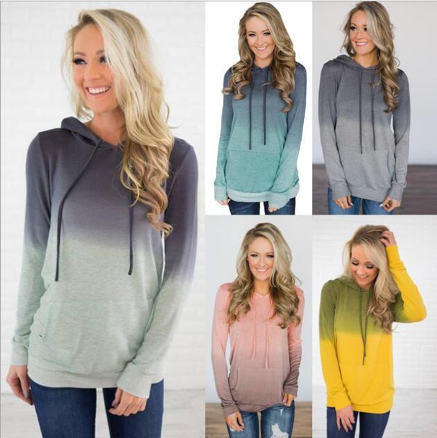 Gradual Color 2020 New Design Hot Sale Hoodies Sweatshirts Women Casual Kawaii Harajuku Sweat Girls European Tops Korean