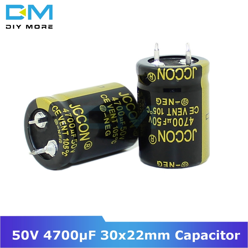 <font><b>50V</b></font> <font><b>4700uF</b></font> 30x22mm 30X22 Aluminum Electrolytic Capacitor High Frequency Low impedance Through Hole Capacitor 30*22mm image