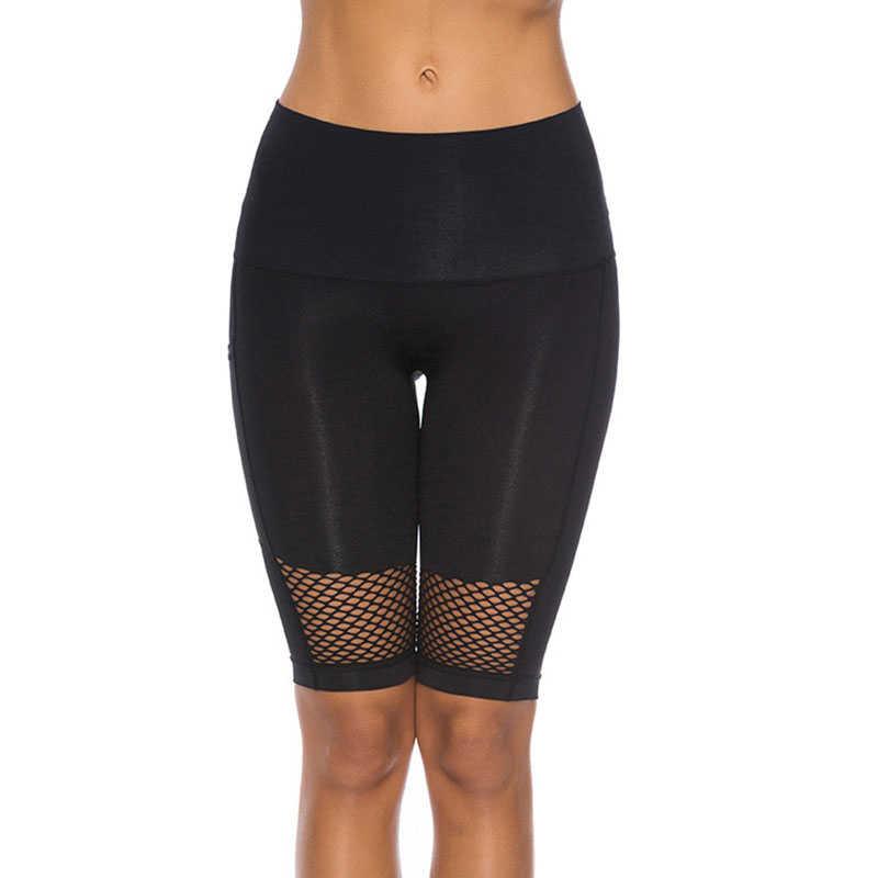 Stałe bez szwu spodenki sportowe kobiety Mesh oddychające spodenki do jogi Fitness Gym legginsy treningu krótki Legging Ropa Deporte Mujer