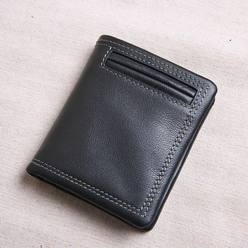 Top quality <font><b>genuine</b></font> <font><b>leather</b></font> <font><b>Men's</b></font> <font><b>wallet</b></font> vintage purse card holder Brand Natural <font><b>Leather</b></font> <font><b>men</b></font> <font><b>wallets</b></font> dollar price Male Purse image