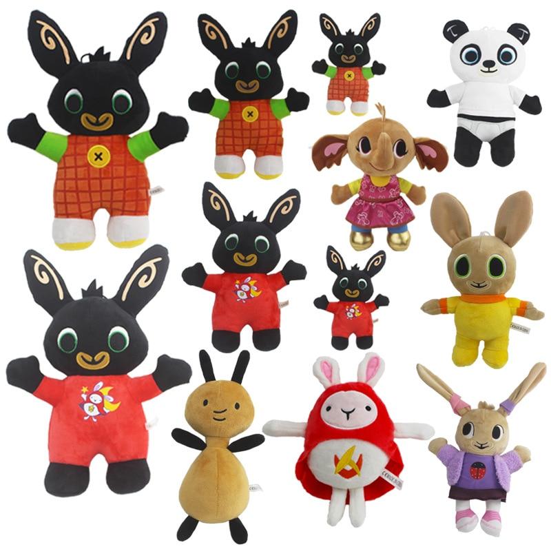 Bing Bunny Plush Doll Toys Elephant Hoppity Sula Flop Voosh Rabbit Soft Stuffed Animal Bing Bunny Doll Toy For Children Gifts