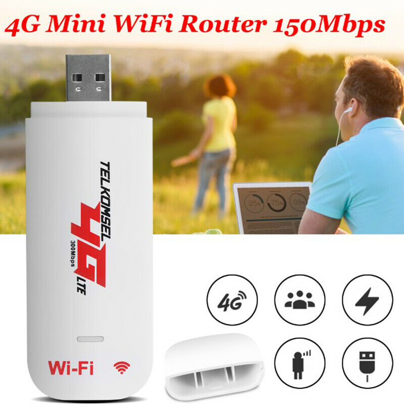 Unlocked 4G Router LTE WIFI Wireless USB Dongle Broadband Modem 150 Mbps Portable Car WIFI Router Hotspot Wireless Routers     - title=