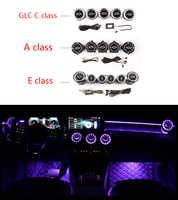 LED turbine air vent Auto klimaanlage vent dekoration umgebungs licht lampe Für benz A/C/E/ GLC/CLA klasse W205 W213 X253 W117