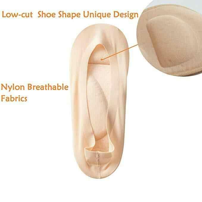 2019 最新のファッション 1 ペア 3D パッド入り女性の不可視なしショーナイロン靴下スポンジクッションライナー