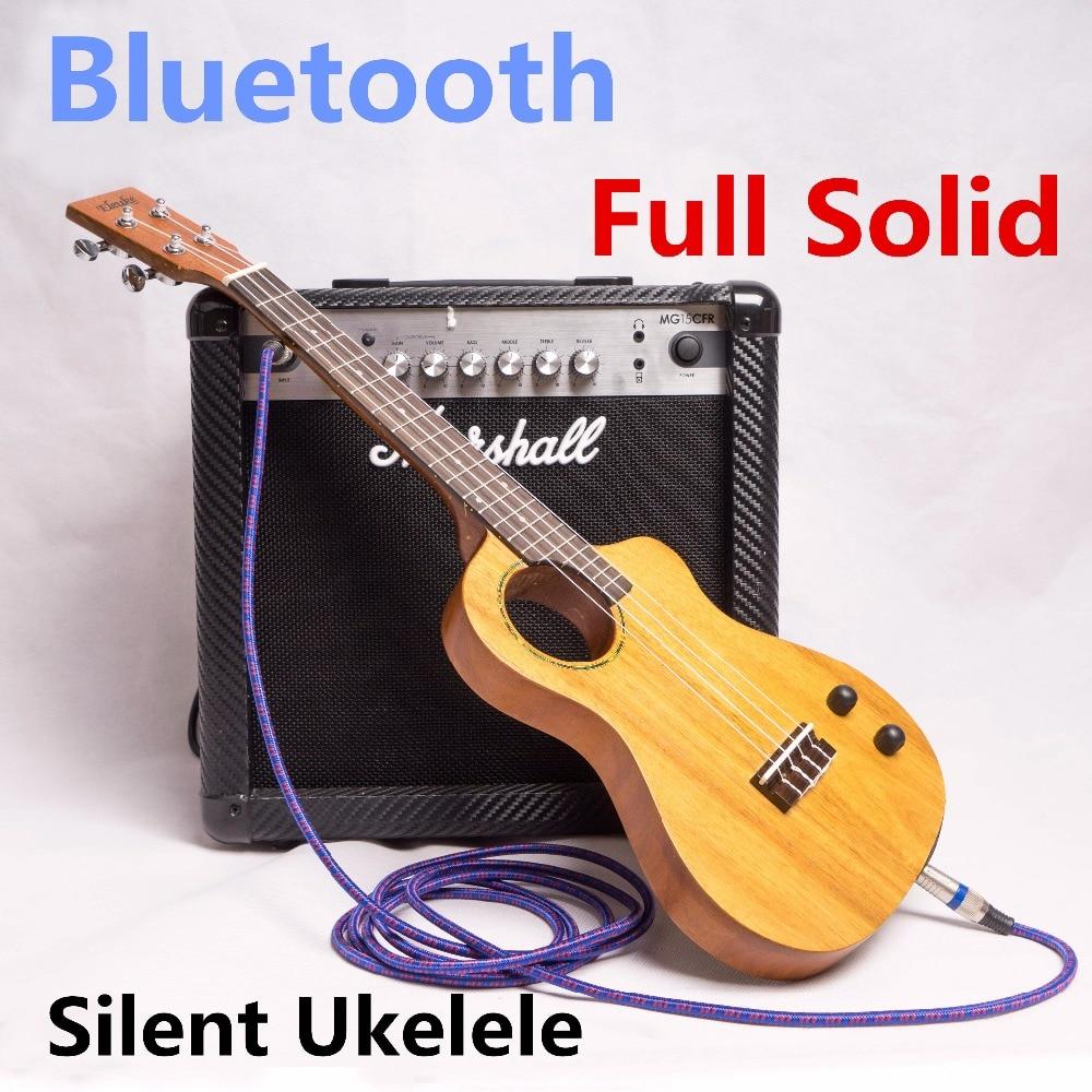 Ukulele Tenor 26 Inch Electric Mahogany Mini Full Solid Bluetooth Headphones Silent Ukelele Hawaiian Guitar 4 Strings Guitarra