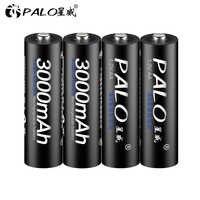4 pièces AA batterie Batteries rechargeables 1.2V AA 3000mAh Ni-MH batterie Rechargeable pré-chargée 2A Baterias pour caméra lampe de poche