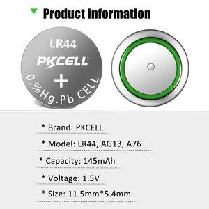 Image 5 - 100 шт. PKCELL LR44 AG13 1,5 V 357A A76 303 SR44SW SP76 L1154 RW82 RW42 термометр Батарея Кнопка ячейки щелочные батареи
