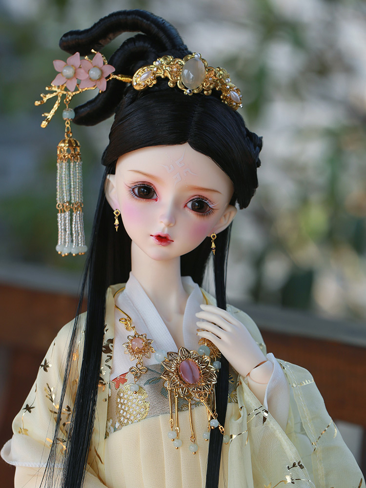 1//3 BJD Doll Free Eyes Face Make Up Wig Chinese Ancient Costume Full Set Clothes