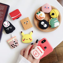 Cute 3D Milk Folding stand For Mobile phone Holder for iPhone 11 Xs max for Samsung For Huawei Phone Case Grip Kichstand Fundas(China)