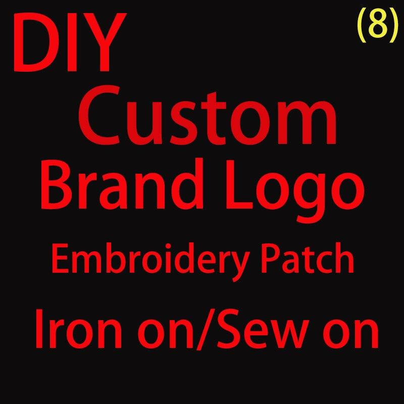 DIY пользовательский бренд логотип вышивка патчи для одежды футболка пришить утюгом нашивки на одежду обувь шляпы парчи аппликации P
