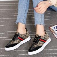 AIZHIXI PU Lace Up Flat Shoes Women Autumn Casual Ladies Shoes Comfortable Sneakers Women Vulcanized Shoes Chaussures Femme