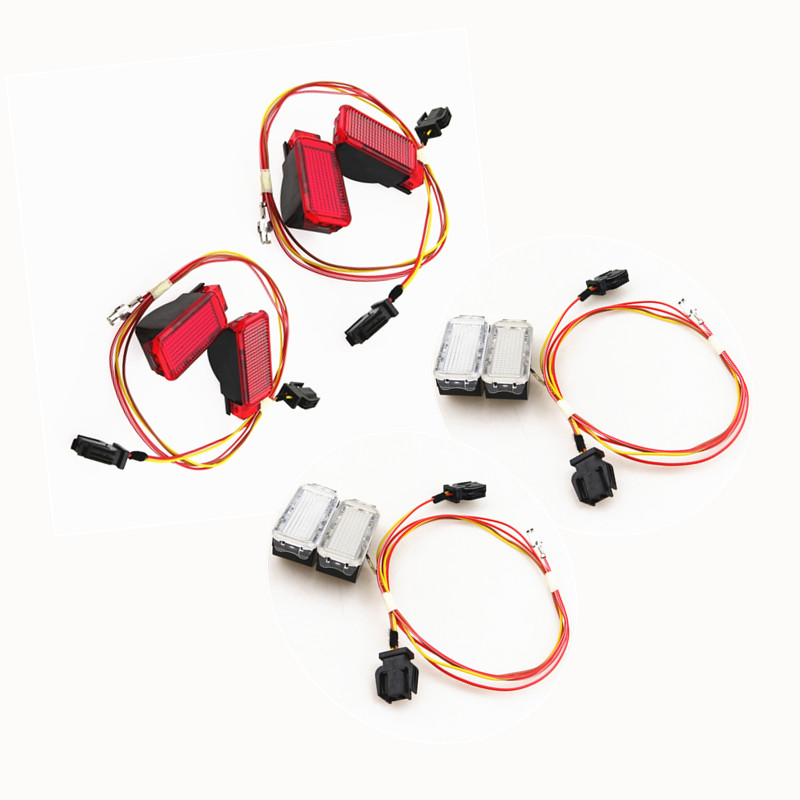 For A3 A4 B8 A5 S5 A6 S6 A7 A8 Q3 Q5 TT Car Red White Door Panel Warning Lights Safety Indication Signal Lamp Cable Wire harness in Signal Lamp from Automobiles Motorcycles